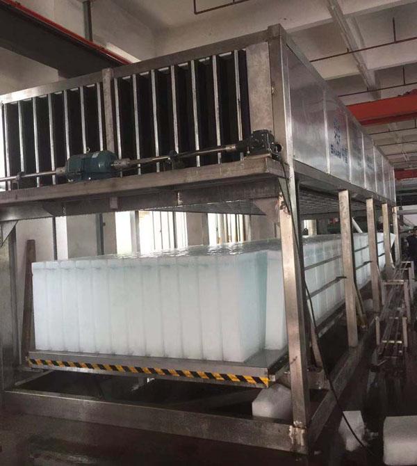台湾客户定制34.5T70KG全304不锈钢直冷式块冰机